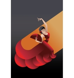 Styled spain flamenco dancer vector