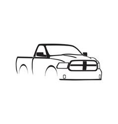 4th gen ram single cab silhouette vector