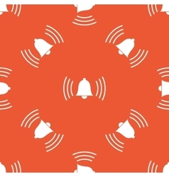 Orange ringing bell pattern vector
