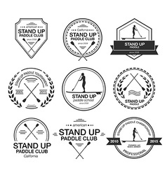 Set of different logo templates for stand up vector