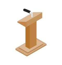 Wooden podium tribune rostrum stand vector image