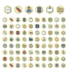 Thin line icons for business vector