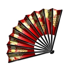 Red fan with golden grape vector