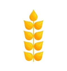 Stalk of ripe barley icon cartoon style vector