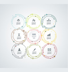 abstract white paper circle infographics with vector image