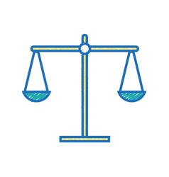 balance kilogram instrument object design vector image