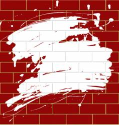 Blot on a brick wall vector