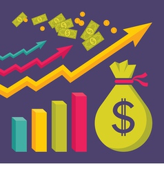 Business Dollar Trend Graphics vector image vector image