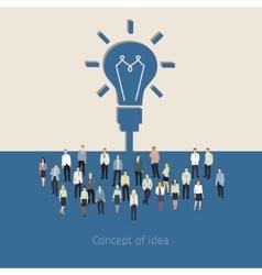 Concept of teamwork vector