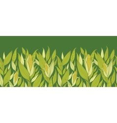 Corn plants horizontal seamless pattern background vector