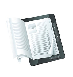Electronic book concept - vector