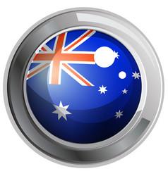 Flag of australia in round icon vector