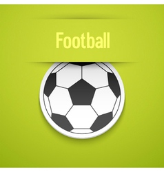 Football sticker vector image vector image