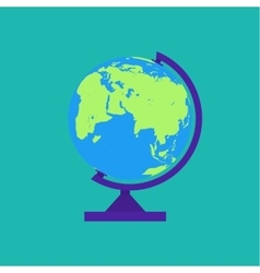 Globe isolated on green background vector image vector image