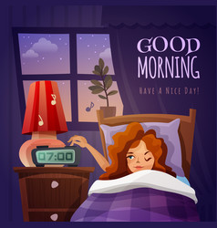 good morning design composition vector image