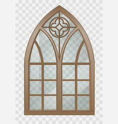 Gothic window of wood vector