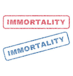 Immortality textile stamps vector