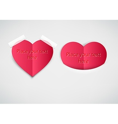 Love heart note with text space vector