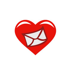 Love message email heart logo vector