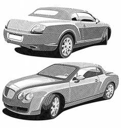 luxury car engraving vector image vector image