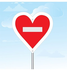 No loving sign composition vector