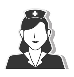 nurse woman silhouette design vector image