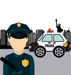 police man vector image
