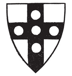 Shield with roundels is an example of a heraldic vector