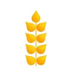 Stalk of ripe barley icon cartoon style vector image vector image
