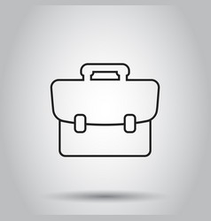 Suitcase box icon in line style on isolated vector