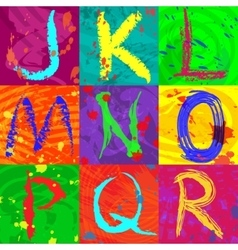 The abstract text effect in bright colors vector image vector image