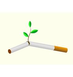 throw cigarette vector image vector image