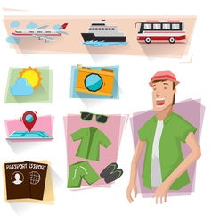 Travel info graphics vector