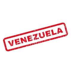 Venezuela rubber stamp vector