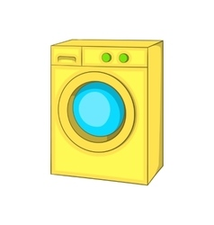 Washing machine icon cartoon style vector image