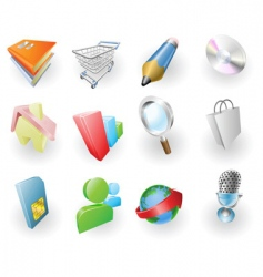 web and application icon set vector image