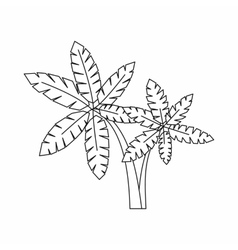 Palma icon outline style vector