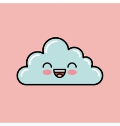 Cloud kawaii icon design vector