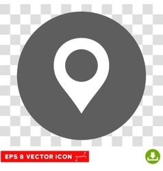 Map Marker Round Eps Icon vector image