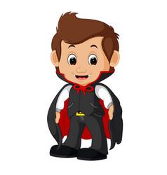 cute dracula cartoon vector image