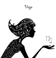 Zodiac sign virgo fashion girl vector
