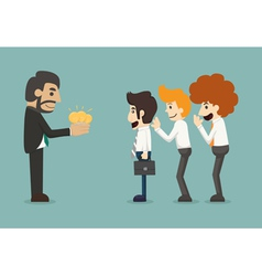 Businessman share idea vector