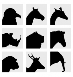 animal head silhouette vector image