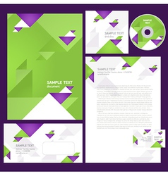 Corporate identity template geometric triangles vector