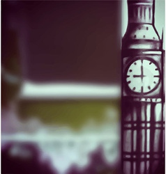 Big ben blur typographic background vector