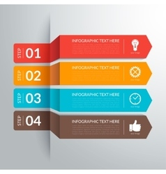 Business infographic paper cut arrow elements vector image