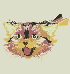 Smile cat vector