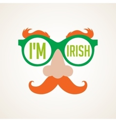 Hipster irish man for st patricks day vector