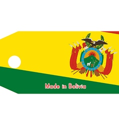 Bolivia flag on price tag vector
