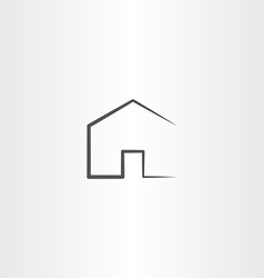 Home icon simple black house symbol vector